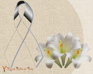moños de luto con flores
