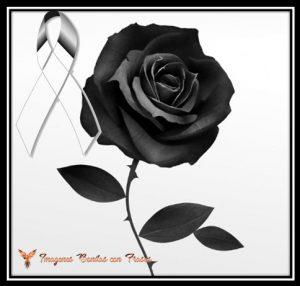 moños de luto con rosas negras
