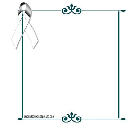 Nuevos y bonitos marcos para decorar fotos de luto - Marcos para decorar ...