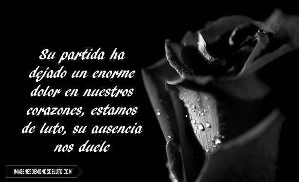 Imágenes De Rosas Negras De Luto Con Frases De Duelo