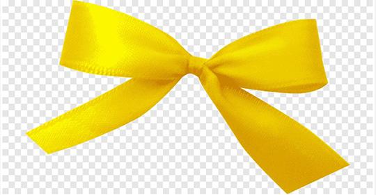 Moños de luto amarillo