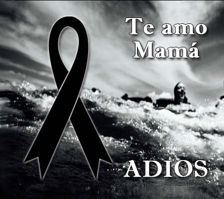Moños de luto en memoria de una madre