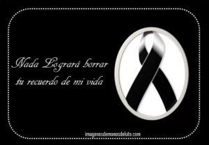 Moños de luto por un familiar fallecido