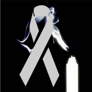 lazo de luto con simbolo