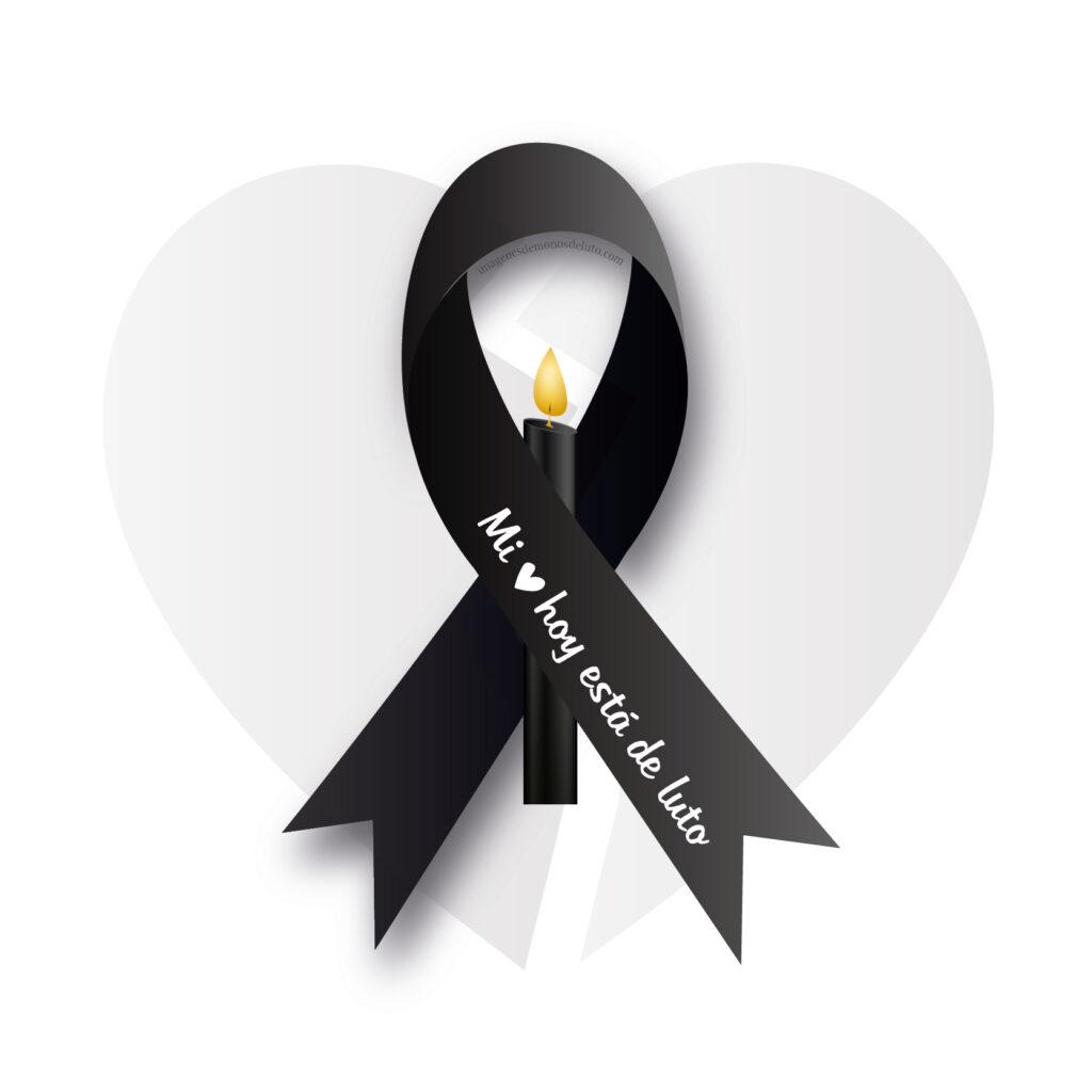 moño de luto con mensaje de condolencia