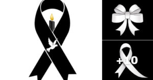 lazos de luto y duelo