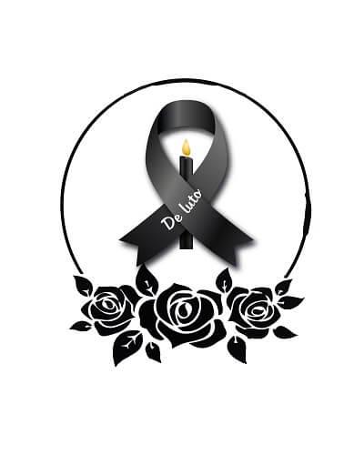 lazo de luto con rosas