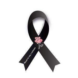 lazo de luto con rosa por mama