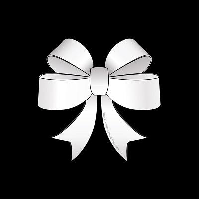 moño de luto blanco paz