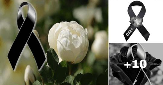 lazos de luto con rosas