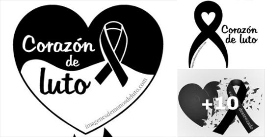 imagenes de lazos de luto con corazones